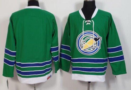 Men's California Golden Seals Blank 1967-68 Green CCM Vintage Throwback Jersey