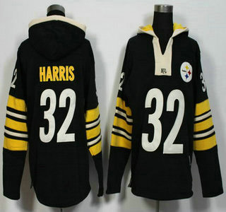 Men's Pittsburgh Steelers #32 Franco Harris Black Retired Player 2015 NFL Hoodie