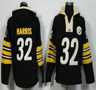 Men's Pittsburgh Steelers #32 Franco Harris Black Retired Player 2015 NFL Hoodie