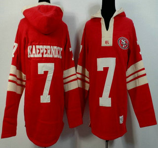 Men's San Francisco 49ers #7 Colin Kaepernick Red Team Color Team Color 2015 NFL Hoody