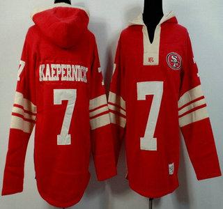 Men's San Francisco 49ers #7 Colin Kaepernick Red Team Color Team Color 2015 NFL Hoody