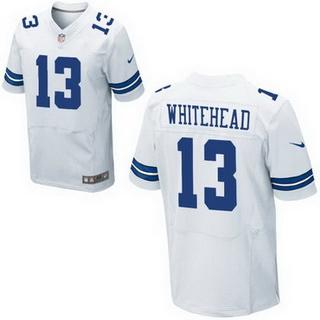 Men's Dallas Cowboys #13 Lucky Whitehead White Road NFL Nike Elite ...