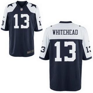 Cheap Men's Dallas Cowboys #13 Lucky Whitehead White Road NFL Nike Elite  hot sale
