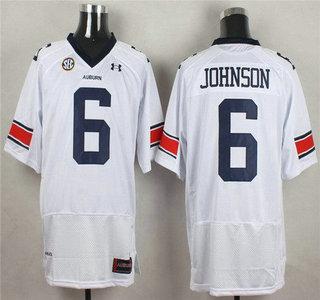 Auburn Tigers #6 Jeremy Johnson White College Football Under Armour Jersey