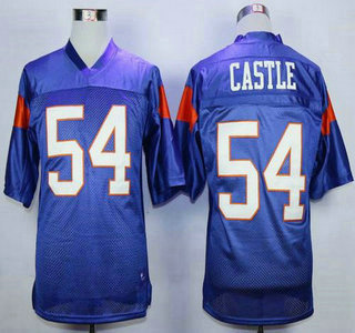 Blue Mountain State #54 Thad Castle Blue 2015 College Football Jersey