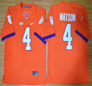 Clemson Tigers #4 Deshaun Watson Orange College Football Nike Limited Jersey