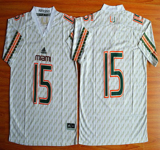 Miami Hurricanes #15 Brad Kaaya White 2015 College Football Jersey