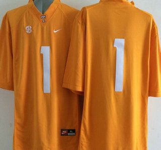 Tennessee Volunteers #1 Orange 2015 College Football adidas Jersey