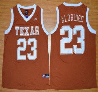Texas Longhorns #12 LaMarcus Aldridge Burnt Orange College Basketball Jersey