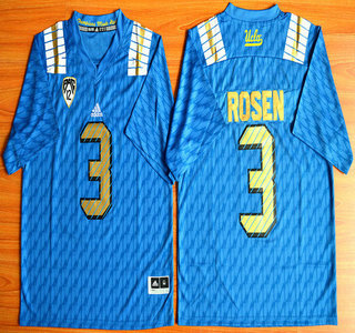 UCLA Bruins #3 Josh Rosen Blue 2015 College Football Jersey