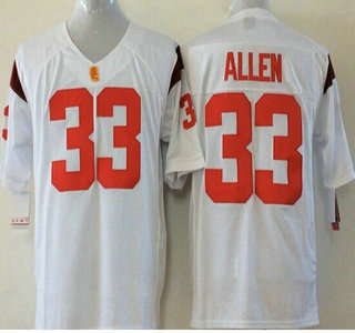 USC Trojans #33 Marcus Allen 2015 White Jersey