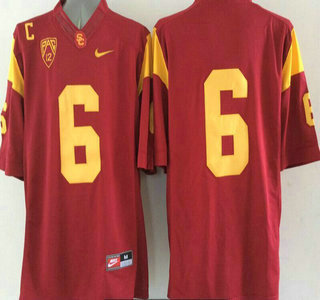 USC Trojans #6 Cody Kessler Red 2015 College Football Nike Limited Jersey