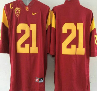 USC Trojans #21 Su'a Cravens Red 2015 College Football Nike Limited Jersey