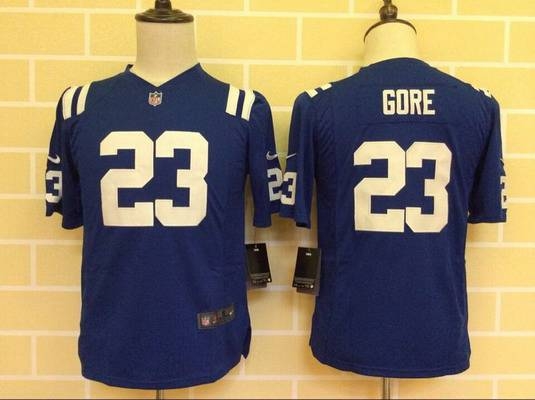Youth Indianapolis Colts #23 Frank Gore Nike Blue Game Jersey