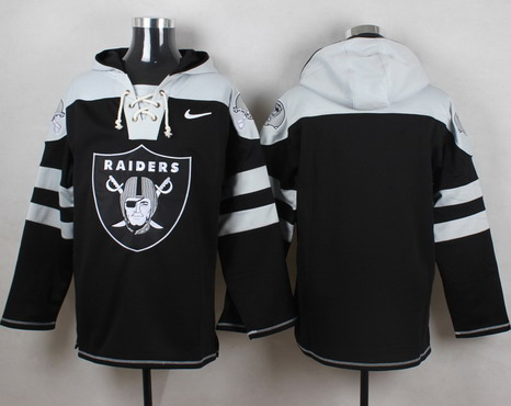 Men's Oakland Raiders Blank Black Team Color 2014 NFL Nike Hoodie