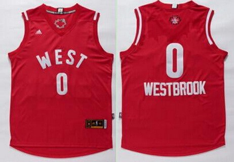 2015-16 NBA Western All-Stars Men's #0 Russell Westbrook Revolution 30 Swingman Red Jersey