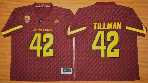 Men's Arizona State Sun Devils #42 Pat Tillman Red Desert Ice 2015 College Football Jersey