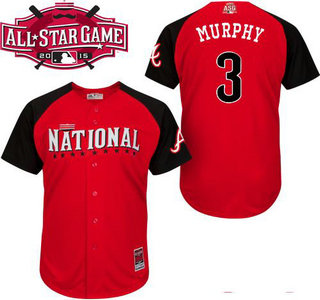 National League Atlanta Braves #3 Dale Murphy Red 2015 All-Star Game Player Jersey