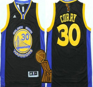 Golden State Warriors #30 Stephen Curry Revolution 30 Swingman 2014 New Black Jersey