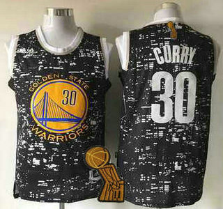 Golden State Warriors #30 Stephen Curry 2015 Urban Luminous Fashion Jersey With 2015 Finals Champions Patch