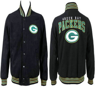 Green Bay Packers Black Jacket FG