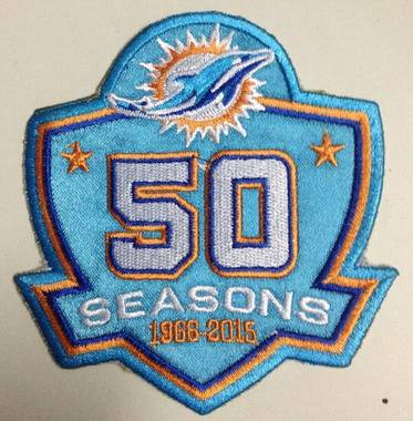 2015 Miami Dolphins 50th Anniversary Patch On Sale For