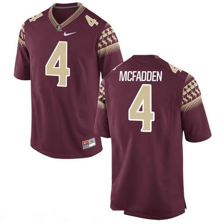 Men's Florida State Seminoles #4 Tarvarus McFadden Red Stitched College Football 2016 Nike NCAA Jersey