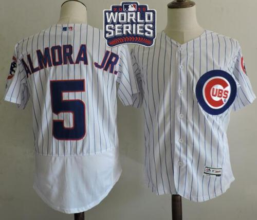 Cubs #5 Albert Almora Jr. White Flexbase Authentic Collection 2016 World Series Bound Stitched MLB Jersey