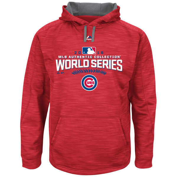 Chicago Cubs Scarlet 2016 World Series Champions Locker Room Streak Fleece Men's Pullover Hoodie
