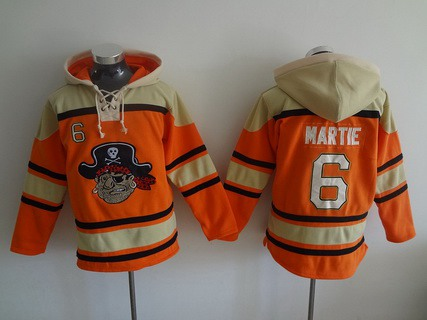 Men's Pittsburgh Pirates #6 Starling Marte Orange MLB Baseball Hoodie