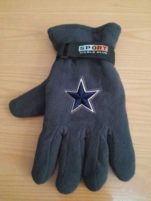 Dallas Cowboys NFL Adult Winter Warm Gloves Dark Gray