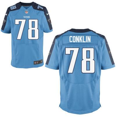 Youth Tennessee Titans #78 Jack Conklin Nike Light Blue 2016 Draft Pick Game Jersey