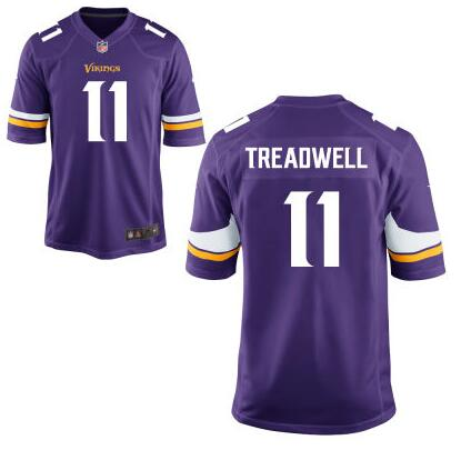 Youth Minnesota Vikings #11 Laquon Treadwell Nike Purple 2016 Draft Pick Game Jersey