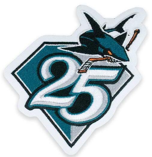 San Jose Sharks 25th Anniversary Patch