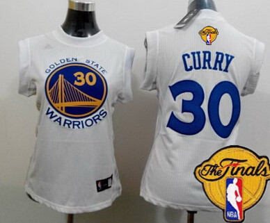 Women's Golden State Warriors #30 Stephen Curry White 2016 The NBA Finals Patch Jersey