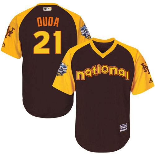 Lucas Duda Brown 2016 MLB All-Star Jersey - Men's National League New York Mets #21 Cool Base Game Collection
