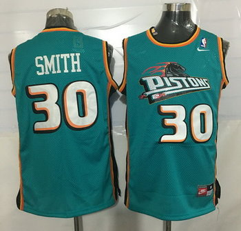 Men's Detroit Pistons #30 Joe Smith Teal Green Soul Swingman Jersey