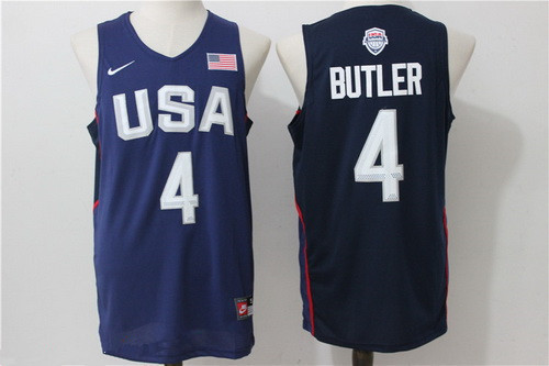 2016 Olympics Team USA Men's #4 Jimmy Butler Navy Blue Stitched NBA Nike Swingman Jersey