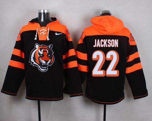 Nike Bengals #22 William Jackson Black Player Pullover NFL Hoodie