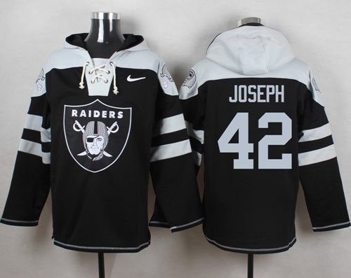 Nike Raiders #42 Karl Joseph Black Player Pullover NFL Hoodie