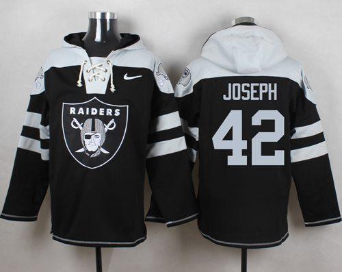 Nike Raiders #42 Karl Joseph Black Player Pullover NFL Hoodie