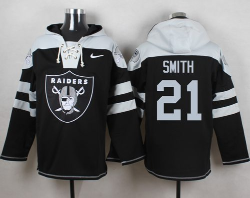 Nike Raiders #21 Sean Smith Black Player Pullover NFL Hoodie