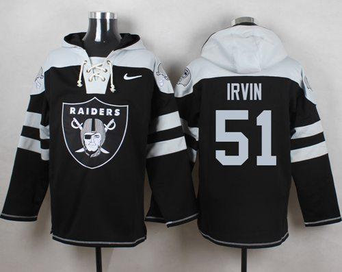 Nike Raiders #51 Bruce Irvin Black Player Pullover NFL Hoodie