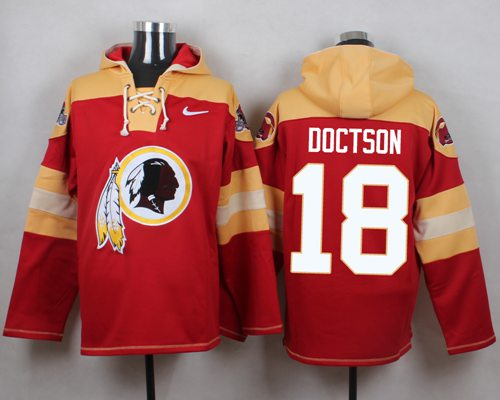 Nike Redskins #18 Josh Doctson Burgundy Red Player Pullover NFL Hoodie