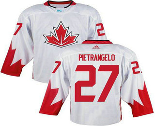 Team Canada Men's #27 Alex Pietrangelo White 2016 World Cup Stitched NHL Jersey
