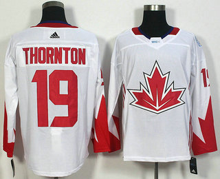 Men's Team Canada #19 Joe Thornton White 2016 World Cup of Hockey Game Jersey