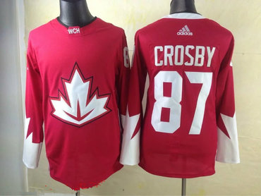 2016 IIHF Team Canada Men's #87 Sidney Crosby Red adidas Ice Hockey Stitched Jersey