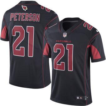 Men's Arizona Cardinals #21 Patrick Peterson Nike Black Color Rush  for sale