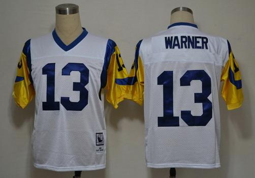 St. Louis Rams custom White Throwback Jersey