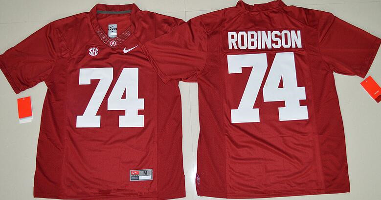Men's Alabama Crimson Tide #74 Cam Robinson Red Limited Stitched College Football Nike NCAA Jersey